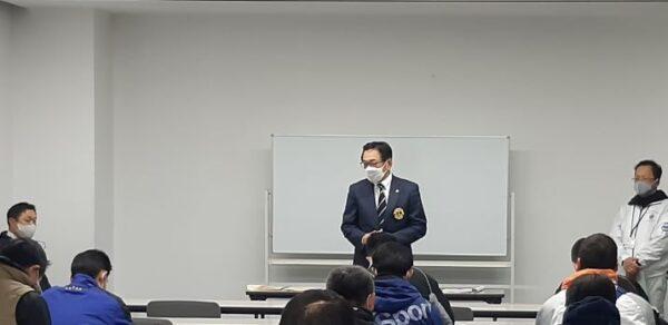 1220バレーボール大会【代表者会議:会長挨拶】