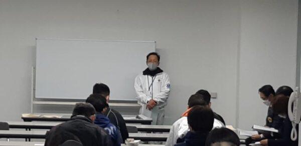 1220バレーボール大会【代表者会議:委員長挨拶】